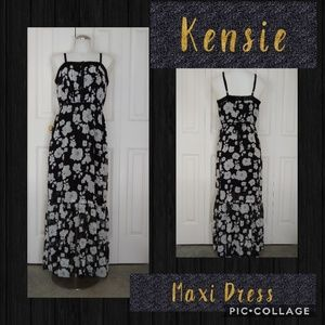 "Kensie ""Spaced Floral"" Woven Maxi Dress Size Small"